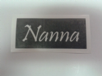 Nanna word stencils for etching on glass   Mothers Day gift present glassware hobby craft